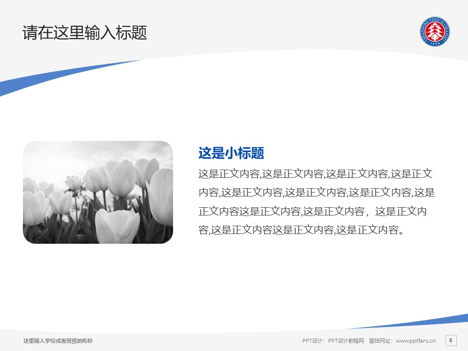 山东英才学院PPT模板下载_幻灯片预览图5