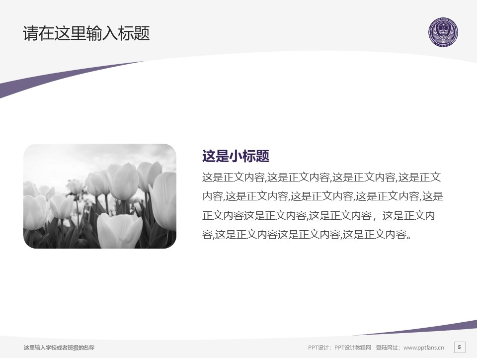 山东警察学院PPT模板下载_幻灯片预览图5