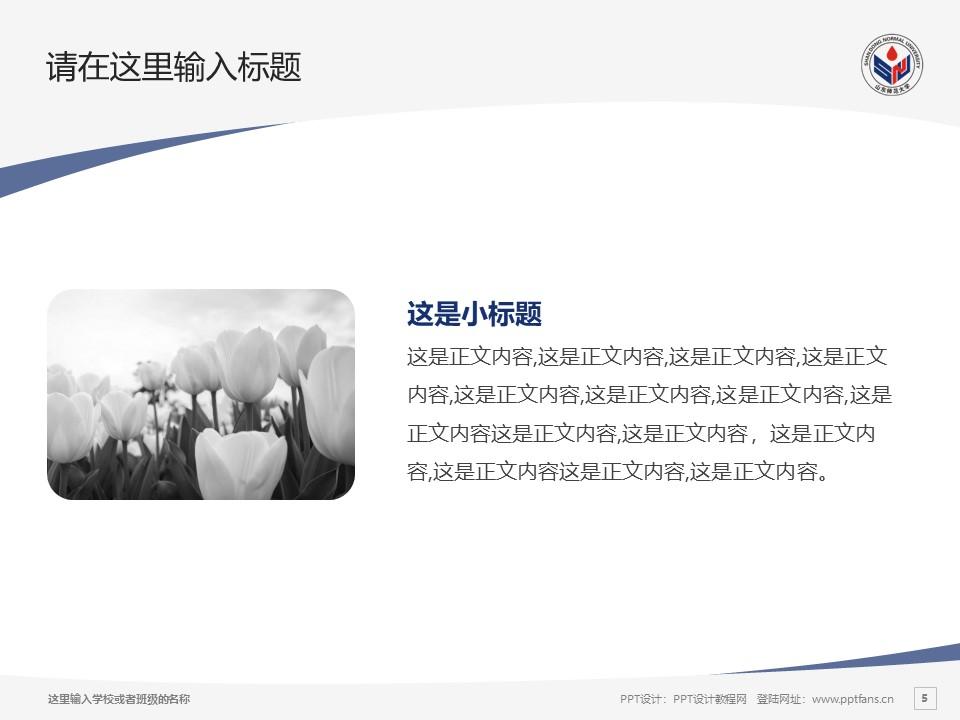 山东师范大学PPT模板下载_幻灯片预览图5
