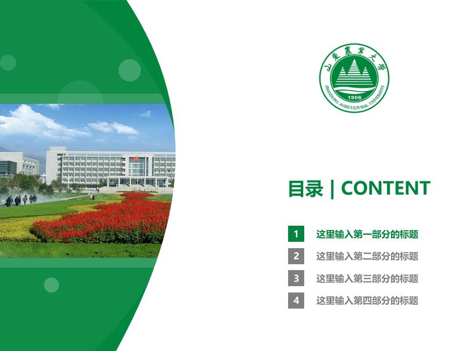 山东农业大学PPT模板下载_幻灯片预览图3