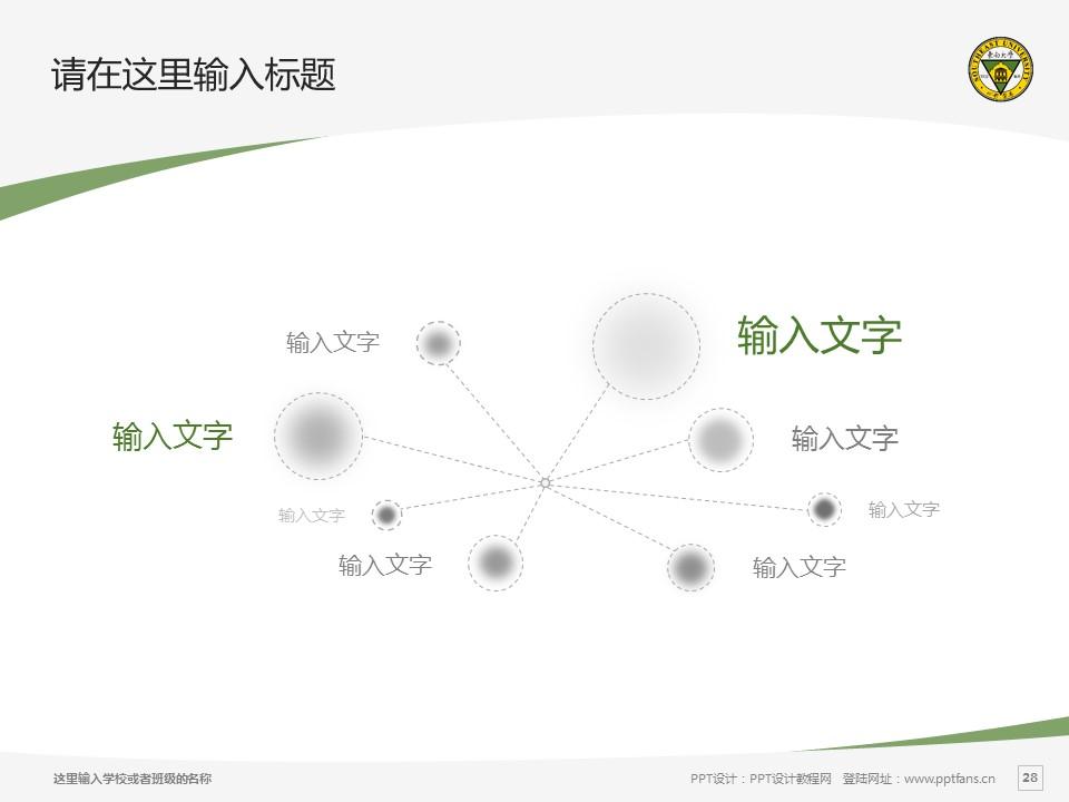 东南大学PPT模板下载_幻灯片预览图28
