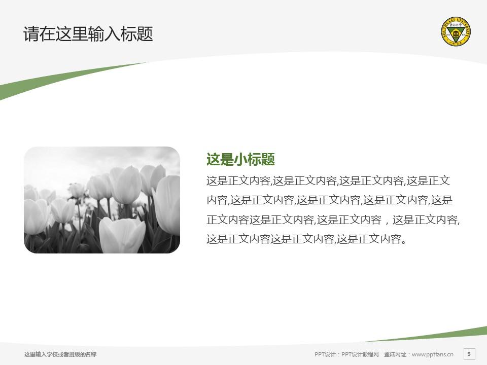 东南大学PPT模板下载_幻灯片预览图5