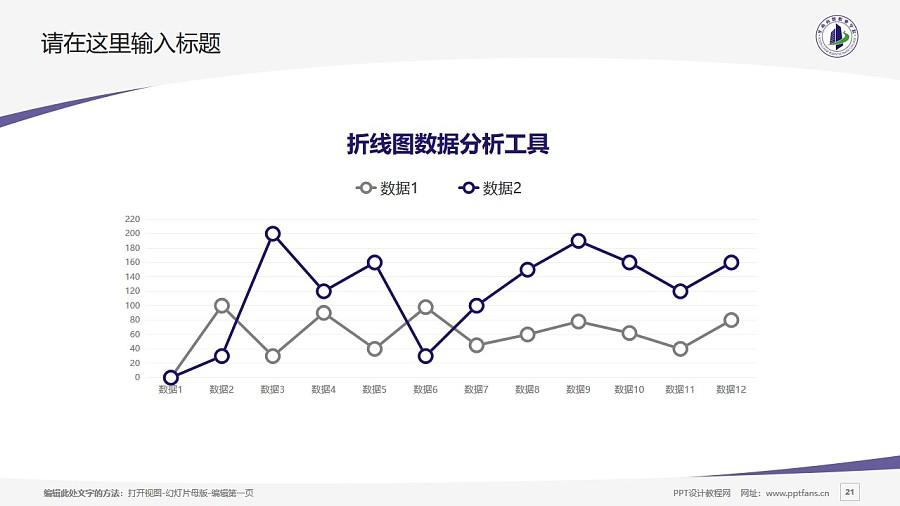 廣州華南商貿職業學院PPT模板下載_幻燈片預覽圖21