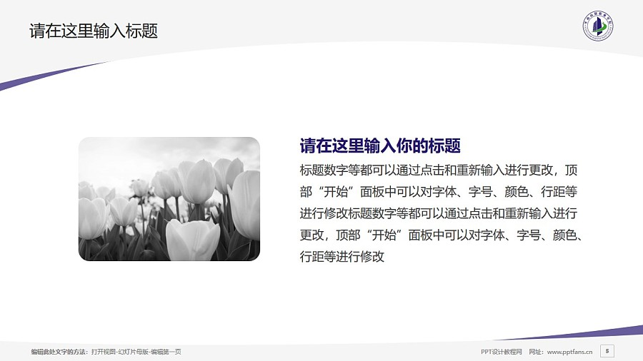 廣州華南商貿職業學院PPT模板下載_幻燈片預覽圖5