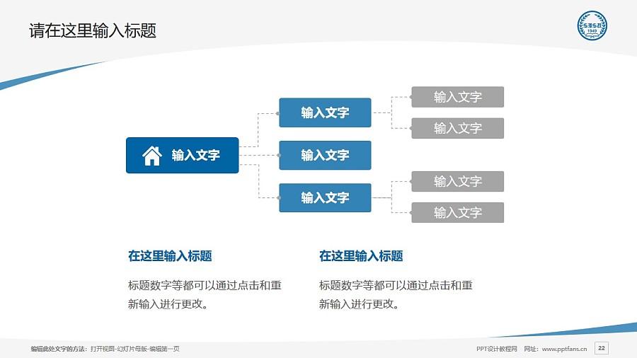 上海外国语大学PPT模板下载_幻灯片预览图22