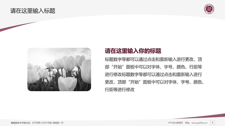 深圳大学PPT模板下载_幻灯片预览图5
