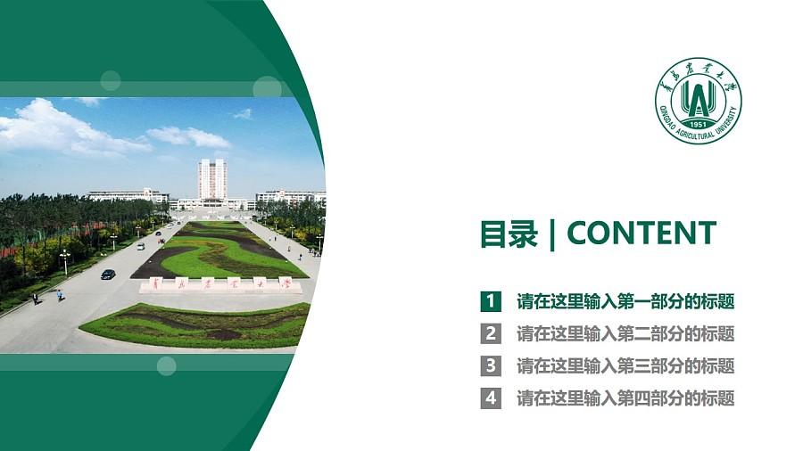 青岛农业大学PPT模板下载_幻灯片预览图3