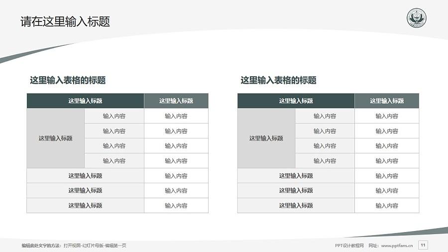 西藏警官高等专科学校PPT模板下载_幻灯片预览图11