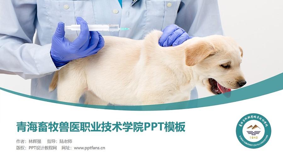 青海畜牧兽医职业技术学院PPT模板下载_幻灯片预览图1
