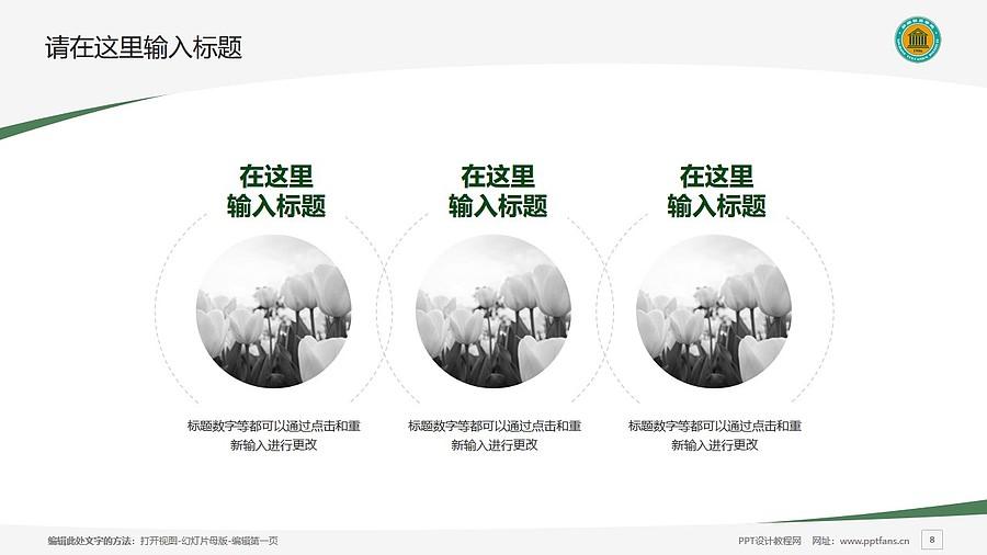 新疆师范高等专科学校PPT模板下载_幻灯片预览图8
