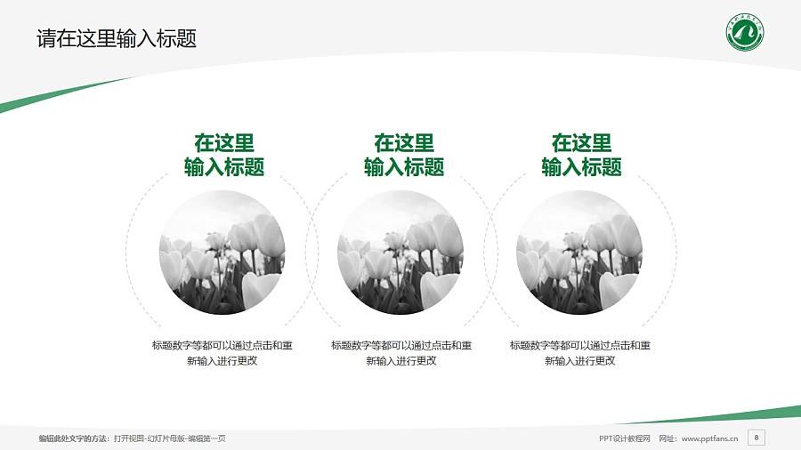 宁夏职业技术学院PPT模板下载_幻灯片预览图8