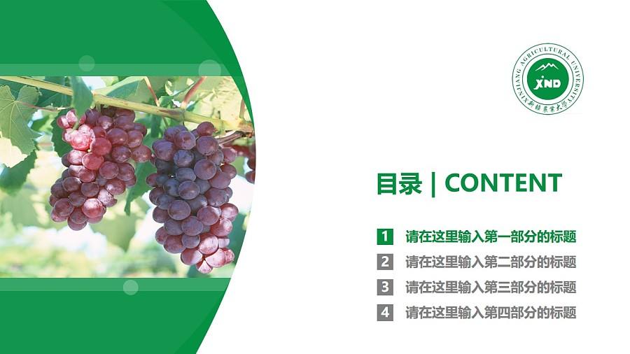 新疆农业大学PPT模板下载_幻灯片预览图3