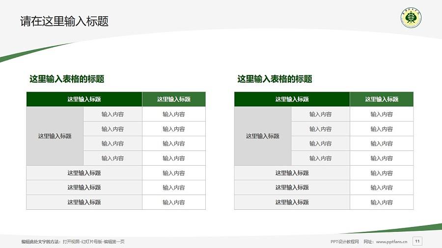 武威职业学院PPT模板下载_幻灯片预览图11