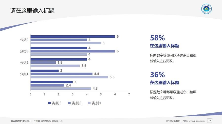 青海建筑职业技术学院PPT模板下载_幻灯片预览图18
