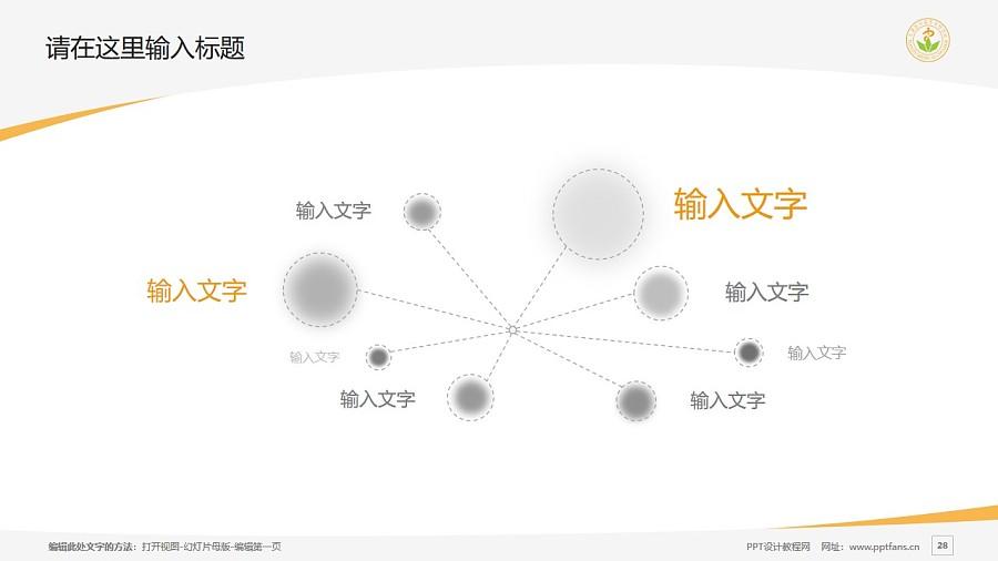 天津医学高等专科学校PPT模板下载_幻灯片预览图28