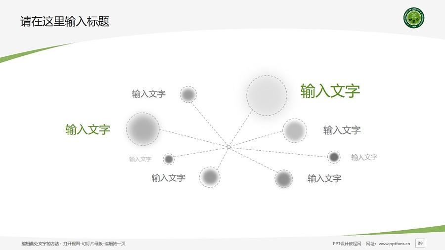 西安科技大学PPT模板下载_幻灯片预览图28
