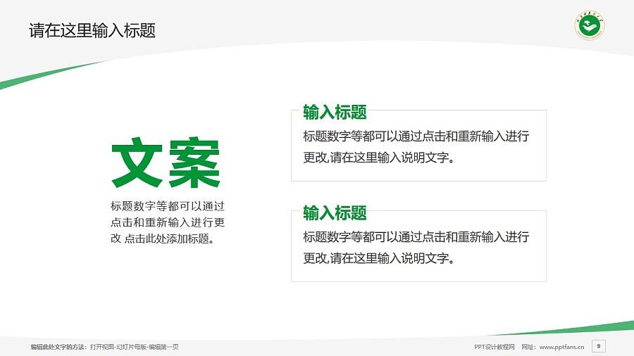 陕西中医药大学PPT模板下载_幻灯片预览图9