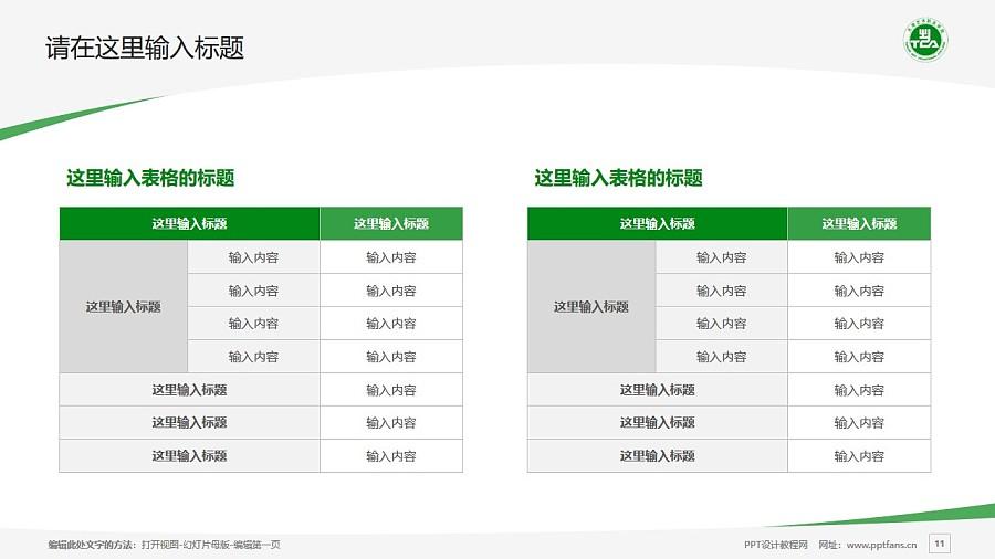 天津藝術職業學院PPT模板下載_幻燈片預覽圖11