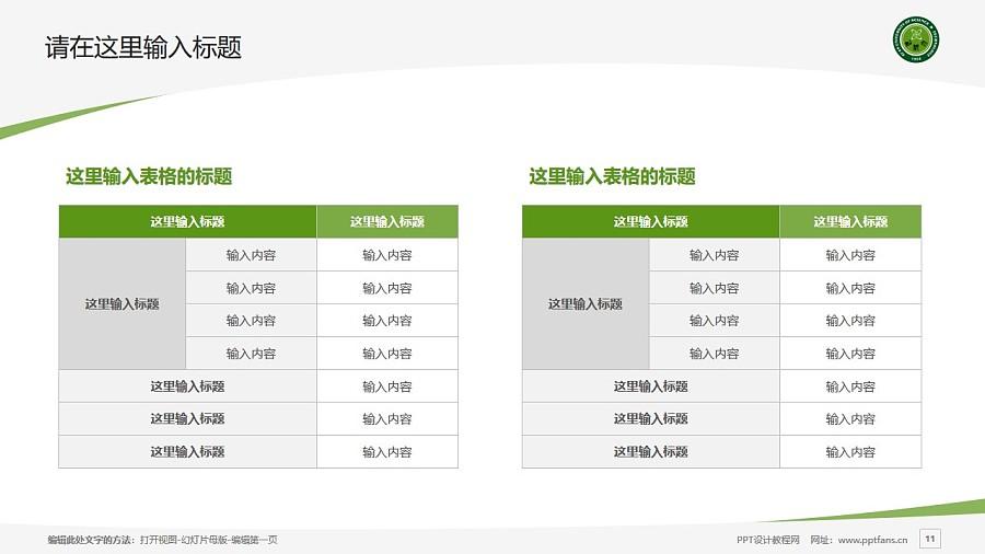 西安科技大学PPT模板下载_幻灯片预览图11