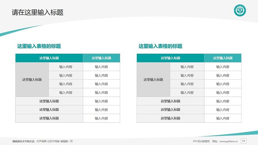 河北化工醫藥職業技術學院PPT模板下載_幻燈片預覽圖11