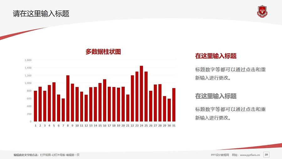 天津青年職業學院PPT模板下載_幻燈片預覽圖20