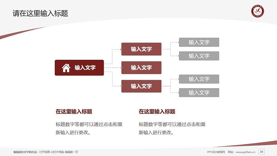 咸阳师范学院PPT模板下载_幻灯片预览图22