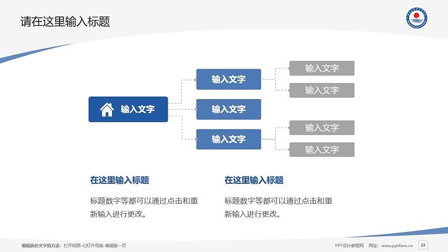 秦皇島職業技術學院PPT模板下載_幻燈片預覽圖22