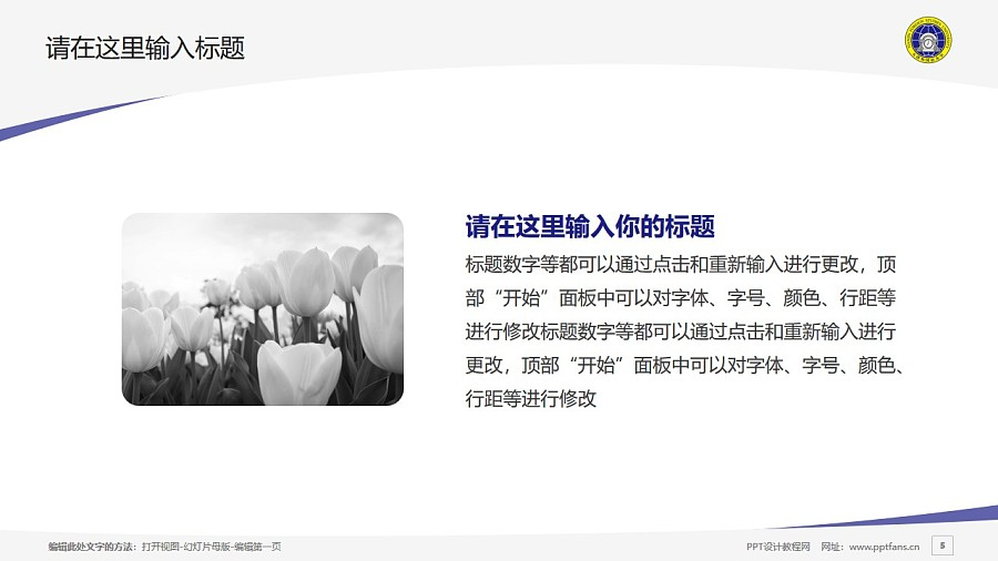 天津外国语大学PPT模板下载_幻灯片预览图5