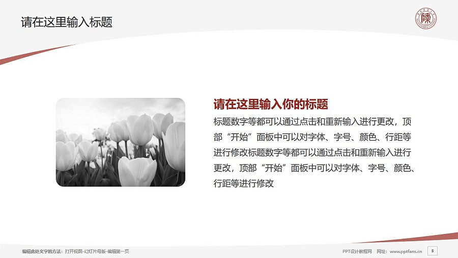 陕西师范大学PPT模板下载_幻灯片预览图5