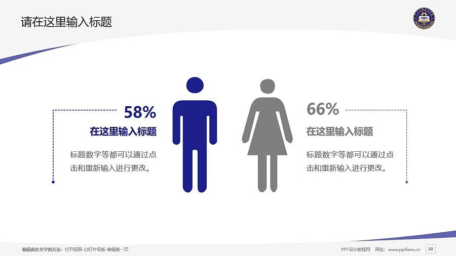 云南商務職業學院PPT模板下載_幻燈片預覽圖23