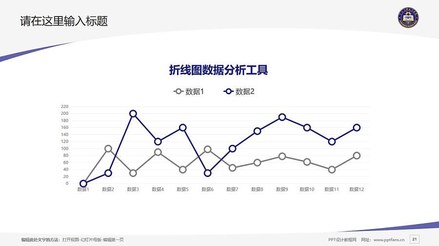 云南商務職業學院PPT模板下載_幻燈片預覽圖21