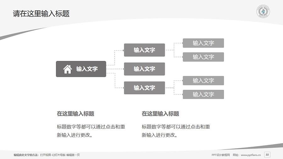 昆明卫生职业学院PPT模板下载_幻灯片预览图22