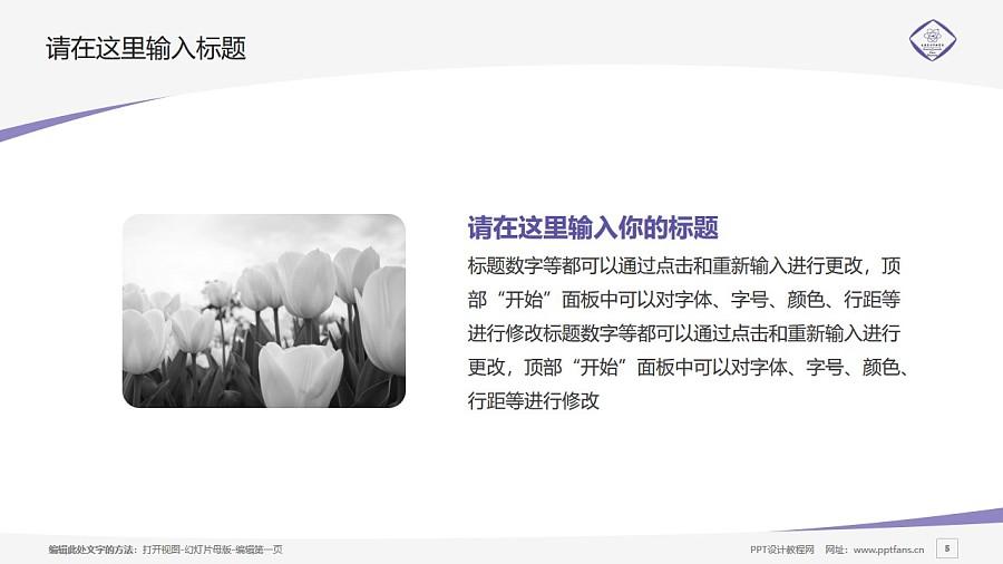 长春东方职业学院PPT模板_幻灯片预览图5