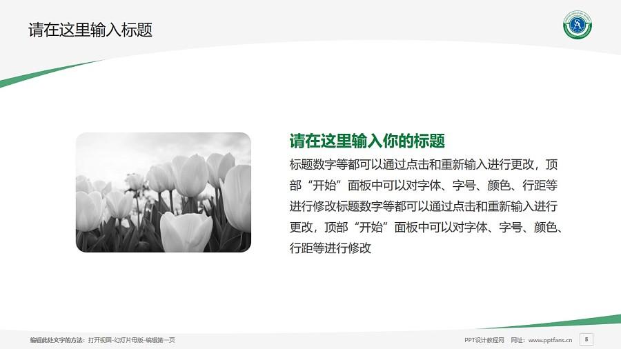 沈阳农业大学PPT模板下载_幻灯片预览图5