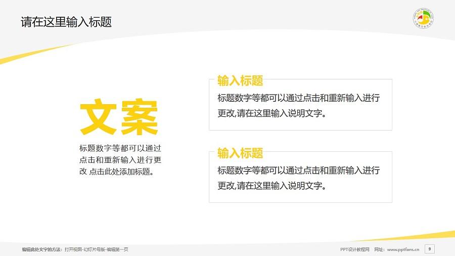 广西艺术学院PPT模板下载_幻灯片预览图9