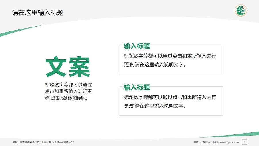 大庆师范学院PPT模板下载_幻灯片预览图9