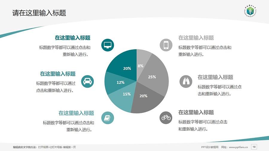 重庆医科大学PPT模板_幻灯片预览图13
