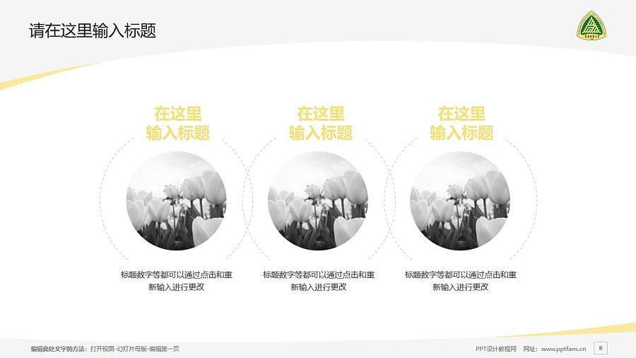重庆邮电大学PPT模板_幻灯片预览图8