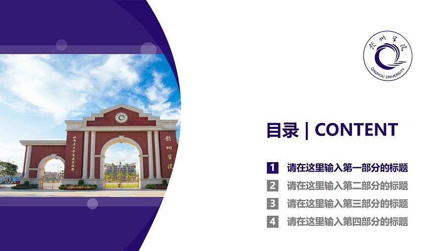 钦州学院PPT模板下载_幻灯片预览图3