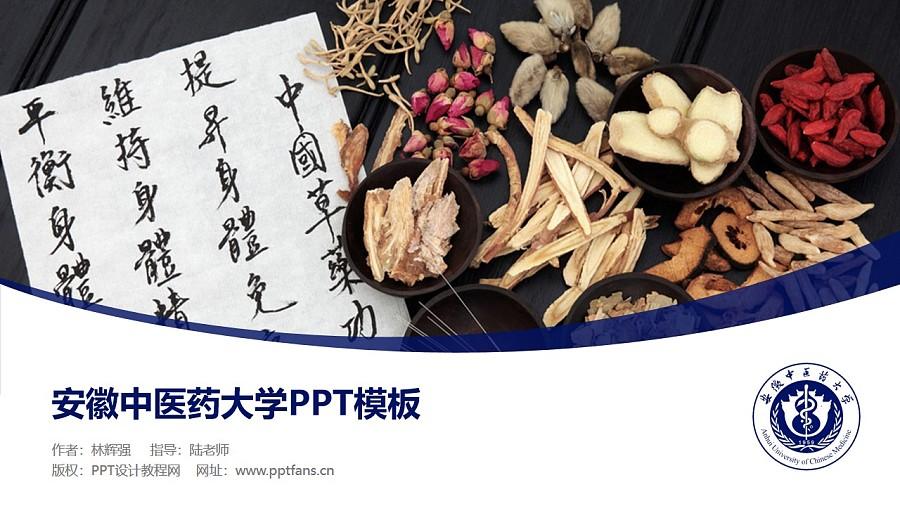 安徽中医药大学PPT模板下载_幻灯片预览图1
