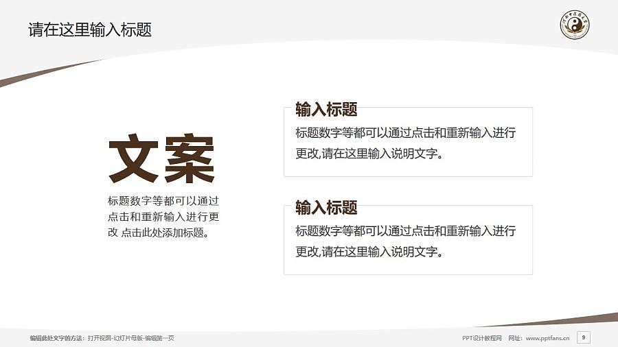 河南中医学院PPT模板下载_幻灯片预览图9