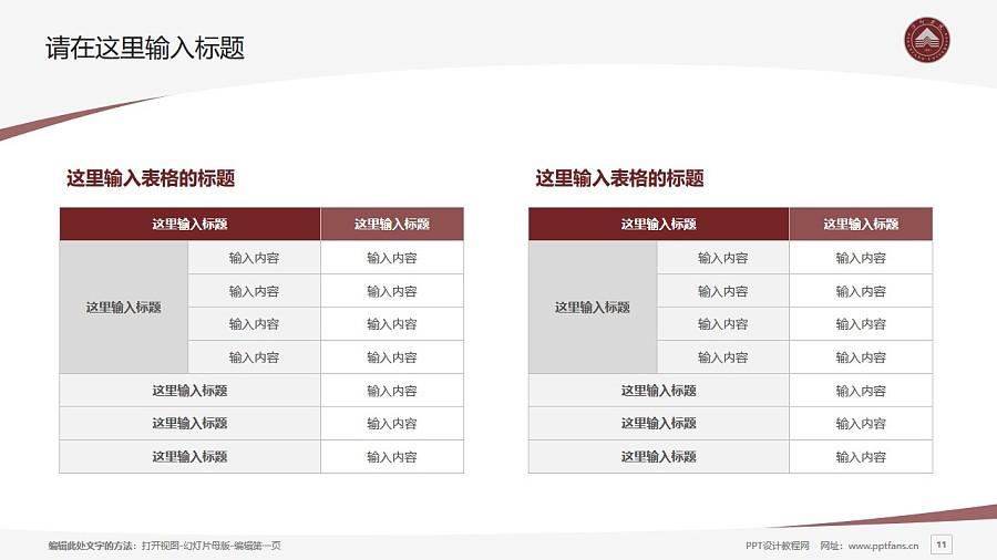 萍乡学院PPT模板下载_幻灯片预览图11