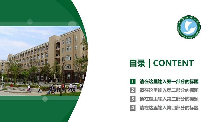 武汉科技大学PPT模板下载_幻灯片预览图3