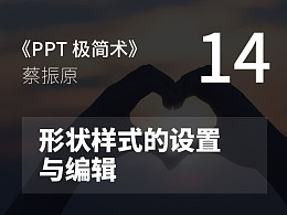 PPT極簡術視頻教程(14):形狀樣式的設置與編輯