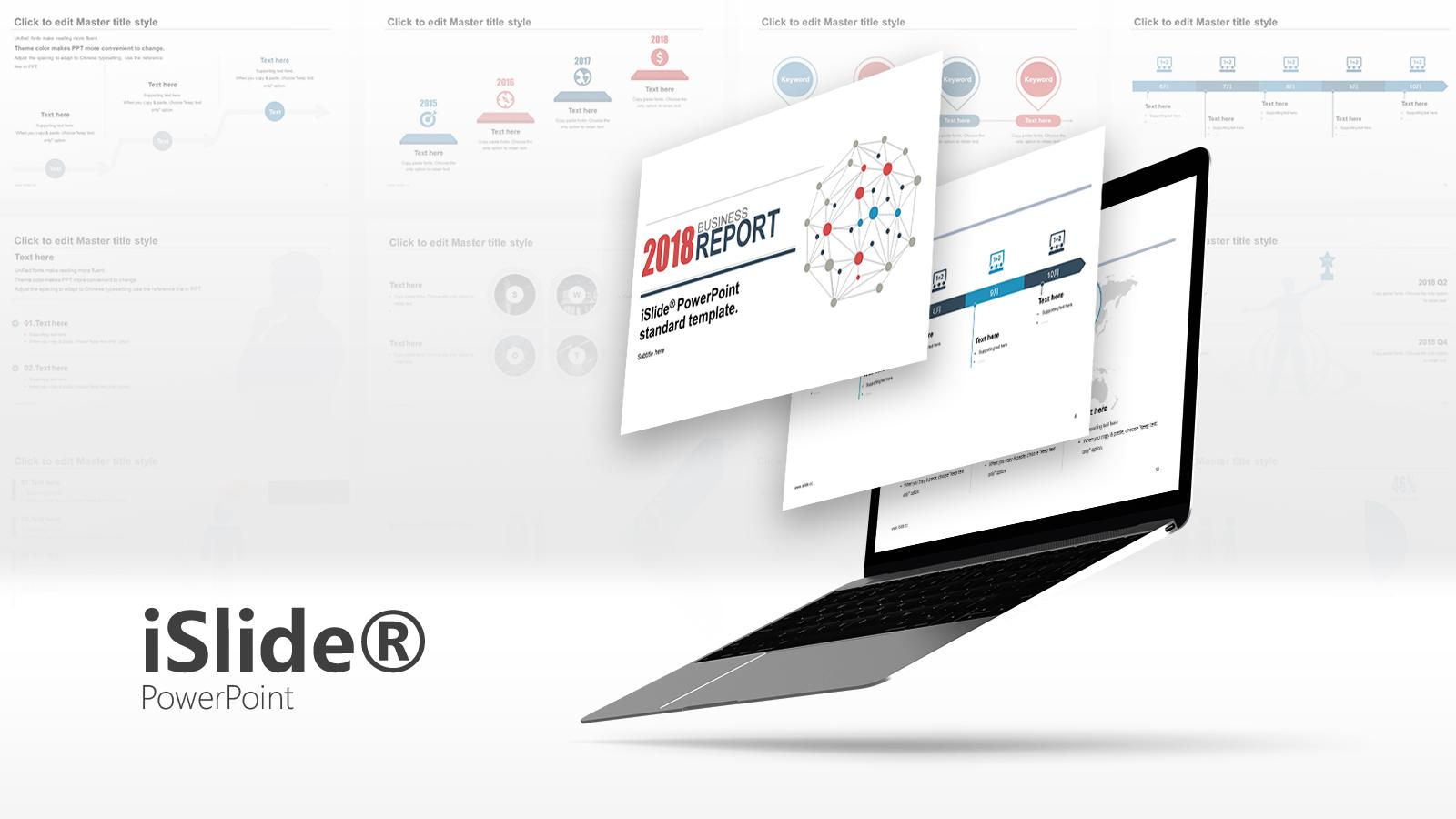 簡單線條營銷推廣方案iSlide PPT模板下載_預覽圖1