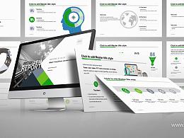 黑白都市簡約商務風企業介紹 PPT模板下載