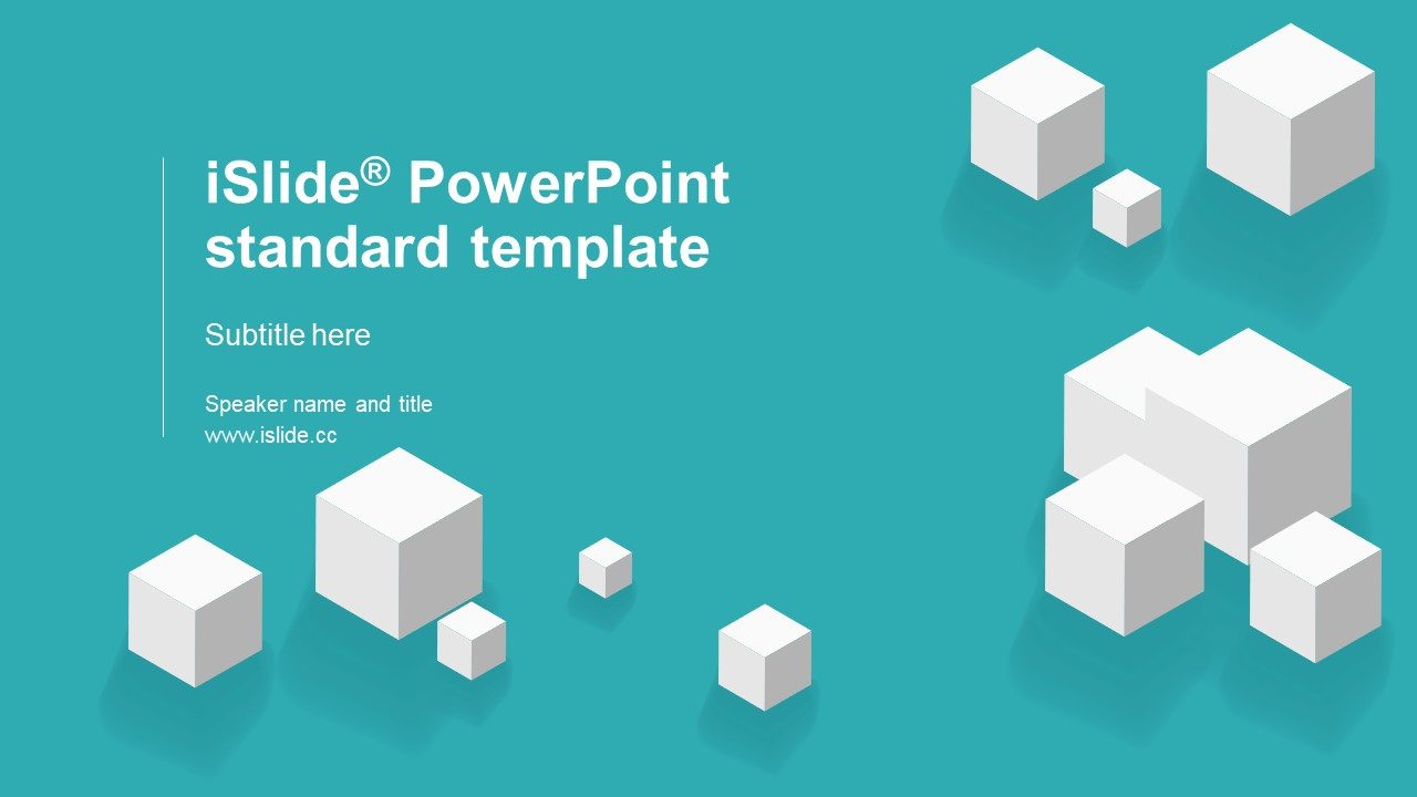 白色方塊簡潔清新風開題報告 PPT模板下載_預覽圖1