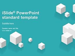 白色方塊簡潔清新風開題報告 PPT模板下載