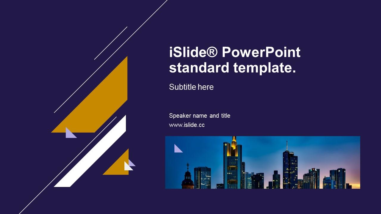 紫色都市夜景简约商务风格分析报告 PPT模板下载_预览图1