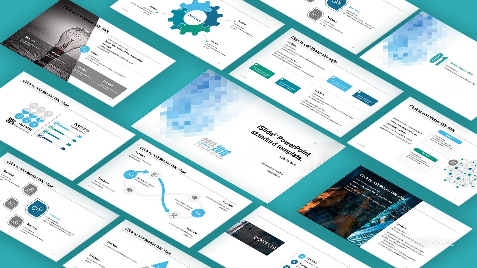 藍色馬賽色簡潔清晰開題報告 PPT模板下載_預覽圖1